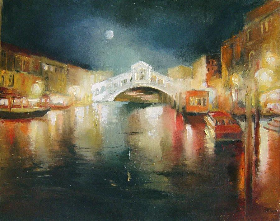 Painting Painting - The Bridge by Nelya Shenklyarska