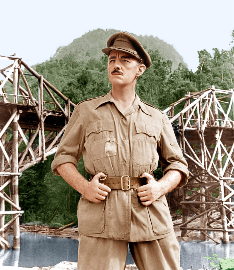 1957 Movies Photograph - The Bridge On The River Kwai, Alec by Everett