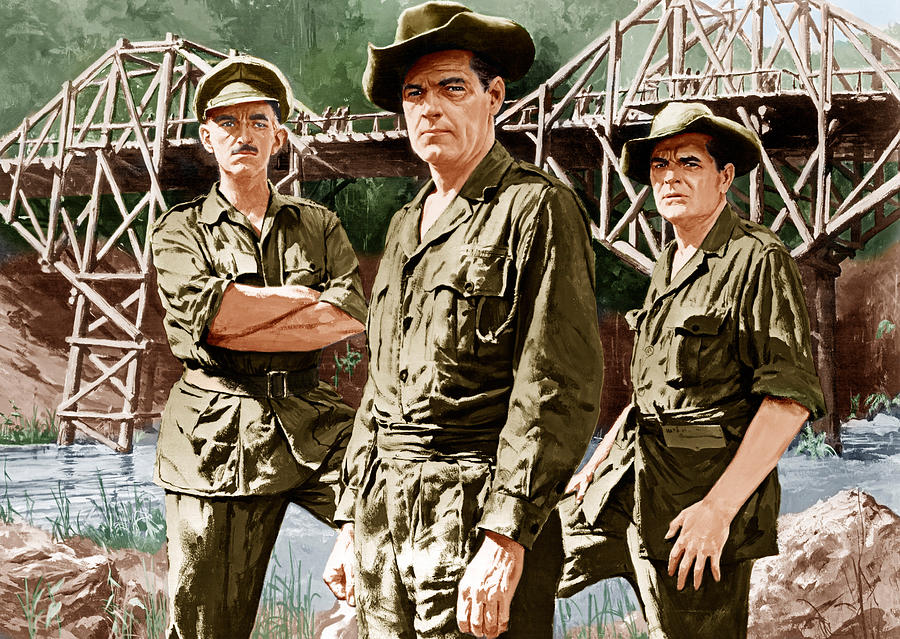 1950s Poster Art Photograph - The Bridge On The River Kwai, From Left by Everett
