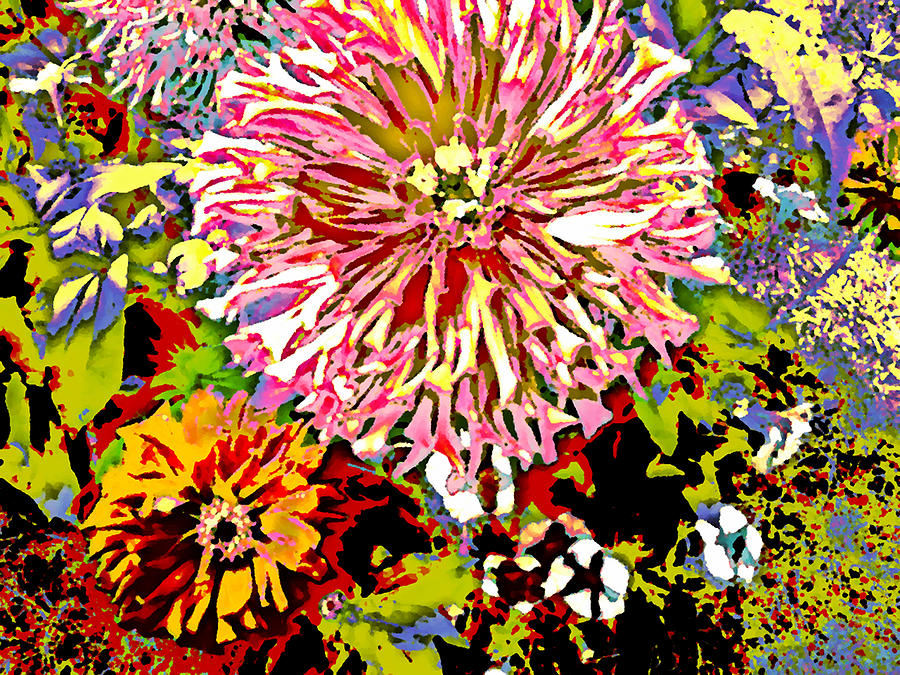Funky Photograph - The Bright Garden by Jennifer Choate