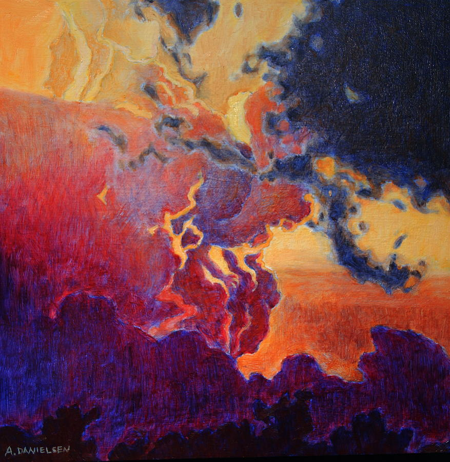 Clouds Painting - The Brilliance Of The End by Andrew Danielsen
