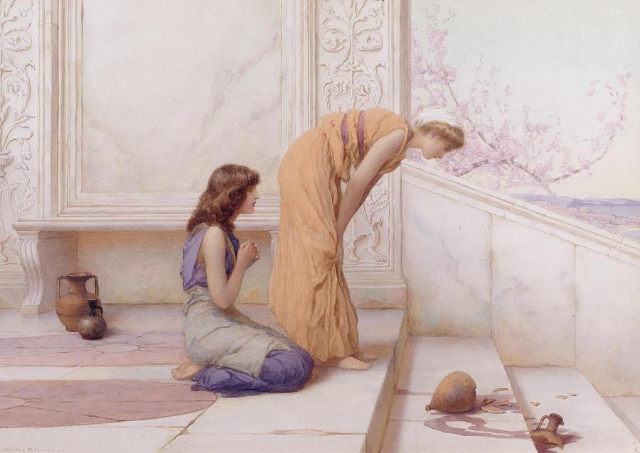 Pot Painting - The Broken Pot by Henry Ryland