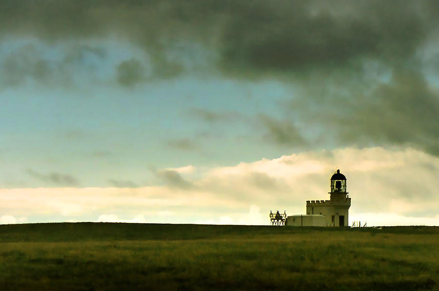 Lighthouse Photograph - The Brough of Birsay Lighthouse by Steve Watson