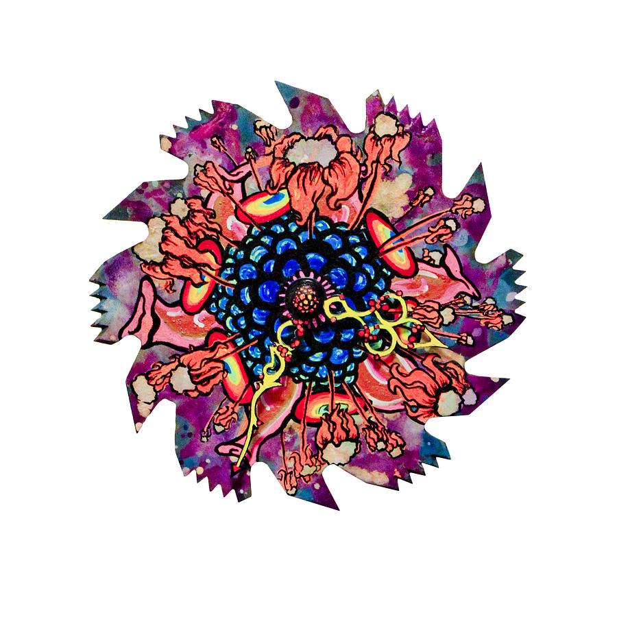 Flower Mixed Media - The Bug-blossom by Jessica Sornson