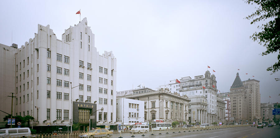 China Photograph - The Bund In Shanghai In China by Shaun Higson