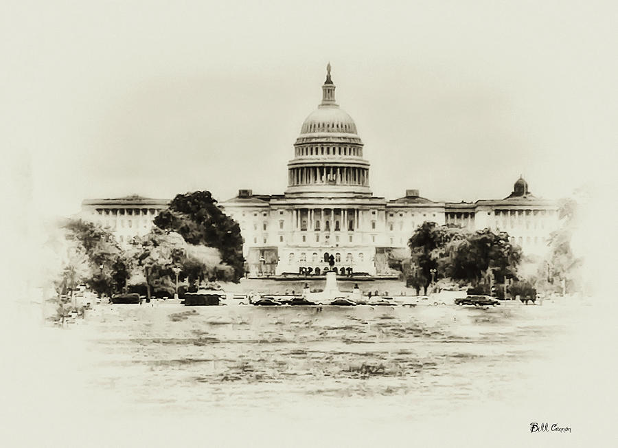 Capital Photograph - The Capital Bulding by Bill Cannon