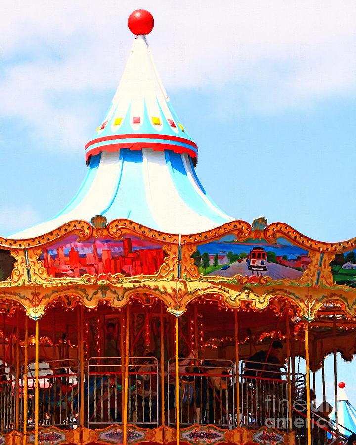 San Francisco Photograph - The Carousel At Pier 39 San Francisco California . 7d14342 by Wingsdomain Art and Photography