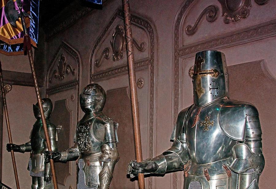 Disney World Photograph - The Castle Guards by John Black