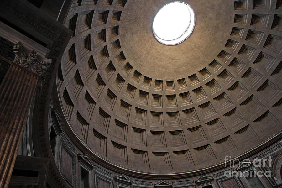 Pantheon Photograph - The Ceiling Of The Pantheon by Chris Hill