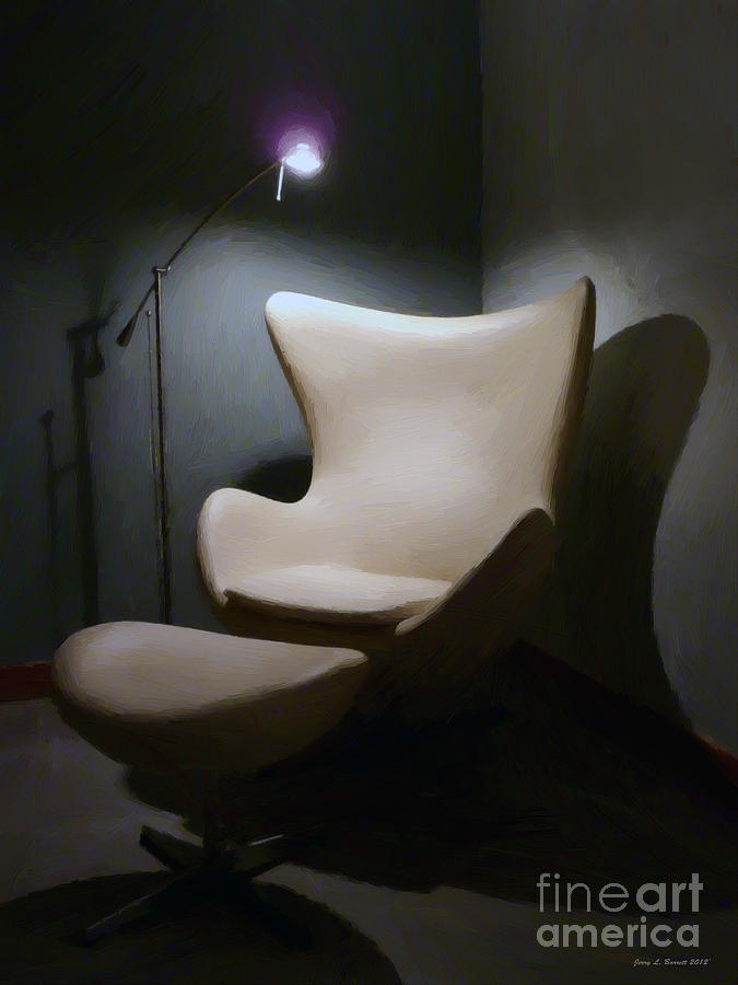 Painting Mixed Media - The Chair by Jerry L Barrett