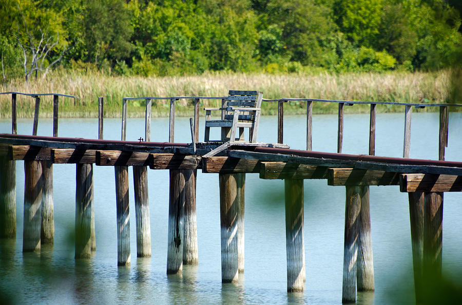 Fishing Photograph - The Chair by Lisa Moore