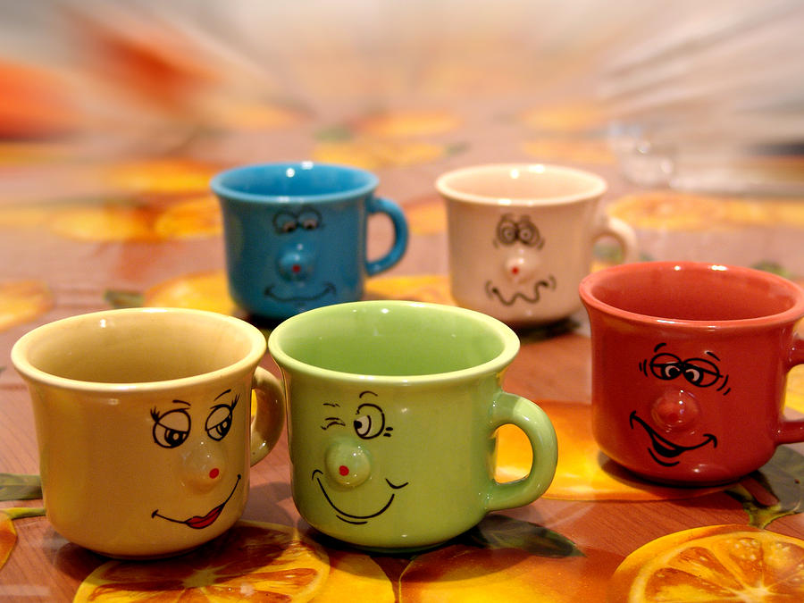 Cups Photograph - The Cheerful Cups by Alessandro Della Pietra
