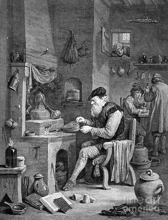History Photograph - The Chemist, 17th Century by Science Source