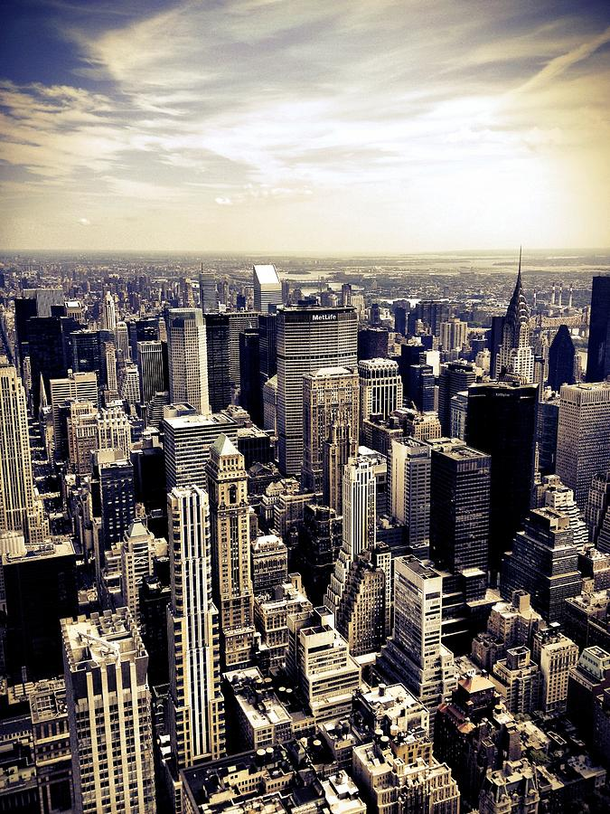 New York City Photograph - The Chrysler Building And Skyscrapers Of New York City by Vivienne Gucwa
