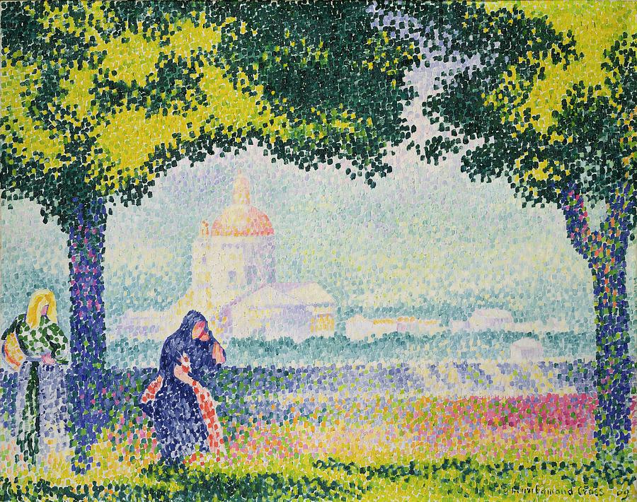 The Church Of Santa Maria Degli Angeli Painting - The Church Of Santa Maria Degli Angeli by Henri-Edmond Cross