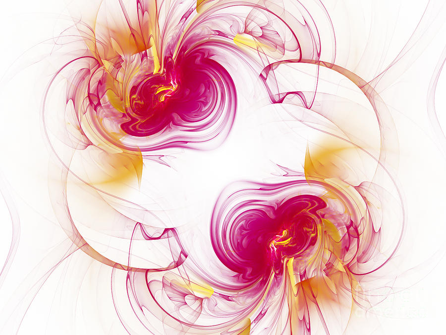 Fractal Digital Art - The Circle Of Love 1 by Andee Design