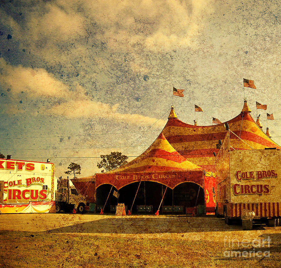 Circus Photograph - The Circus Is In Town by Susanne Van Hulst