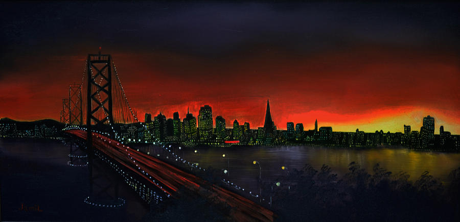 San Francisco Painting - The City By The Bay by Jamil Alkhoury