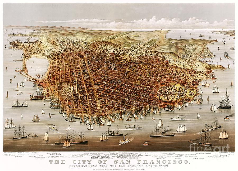 Currier And Ives Prints Painting - The City Of San Francisco by Pg Reproductions