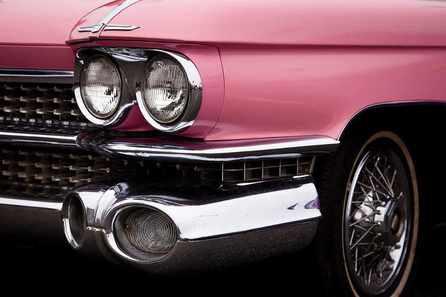 The Classic Pink Cadillac Convertible From 1959 Photograph