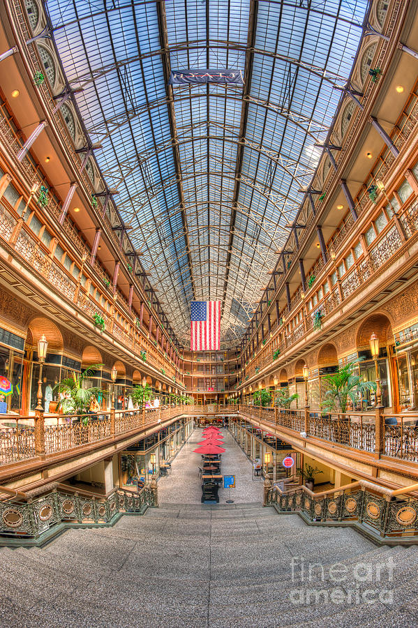 America Photograph - The Cleveland Arcade II by Clarence Holmes