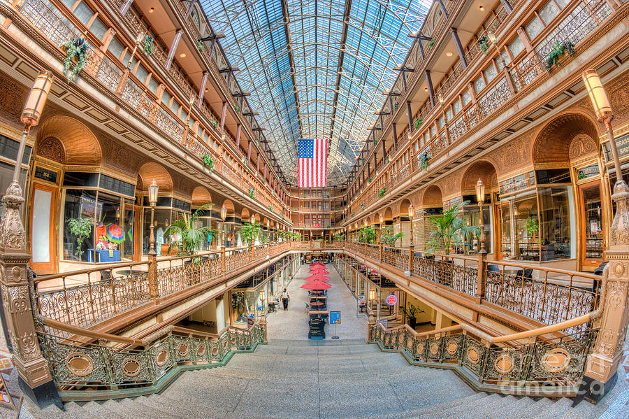 America Photograph - The Cleveland Arcade IIi by Clarence Holmes