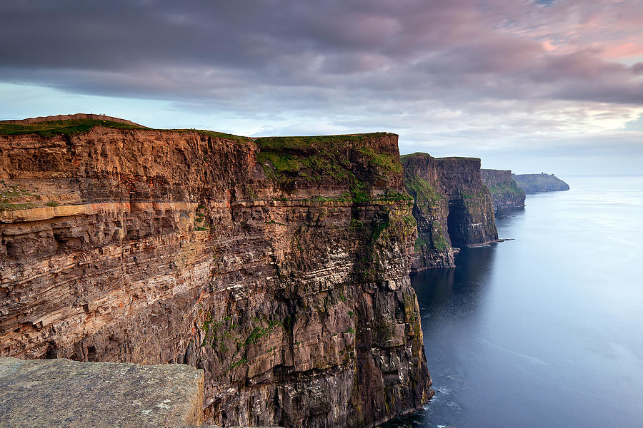 Moher Photograph - The Cliffs Of Moher by Brendan O Neill
