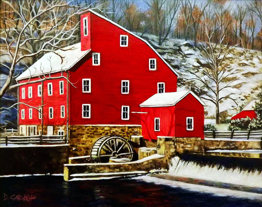 Landscape Painting - The Clinton Mill by Daniel Carvalho