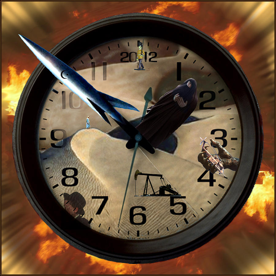 Clock Digital Art - The Clock Is Ticking by E  Kraizberg