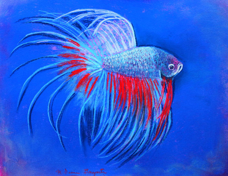 Fish Mixed Media - The Closeup by M Diane Bonaparte