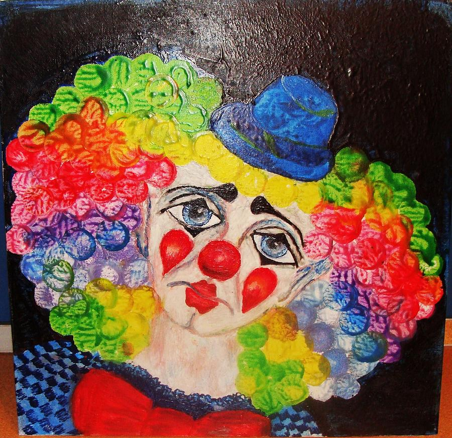 Circus Painting - The Clown In Me by Jeanne Mytareva