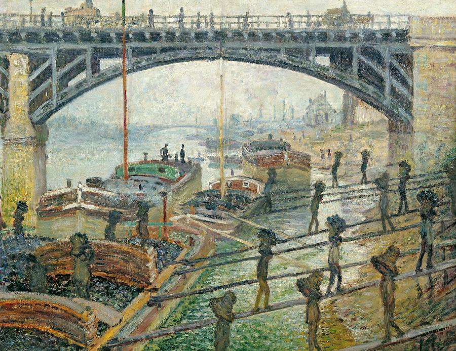 French Painting - The Coal Workers by Claude Monet