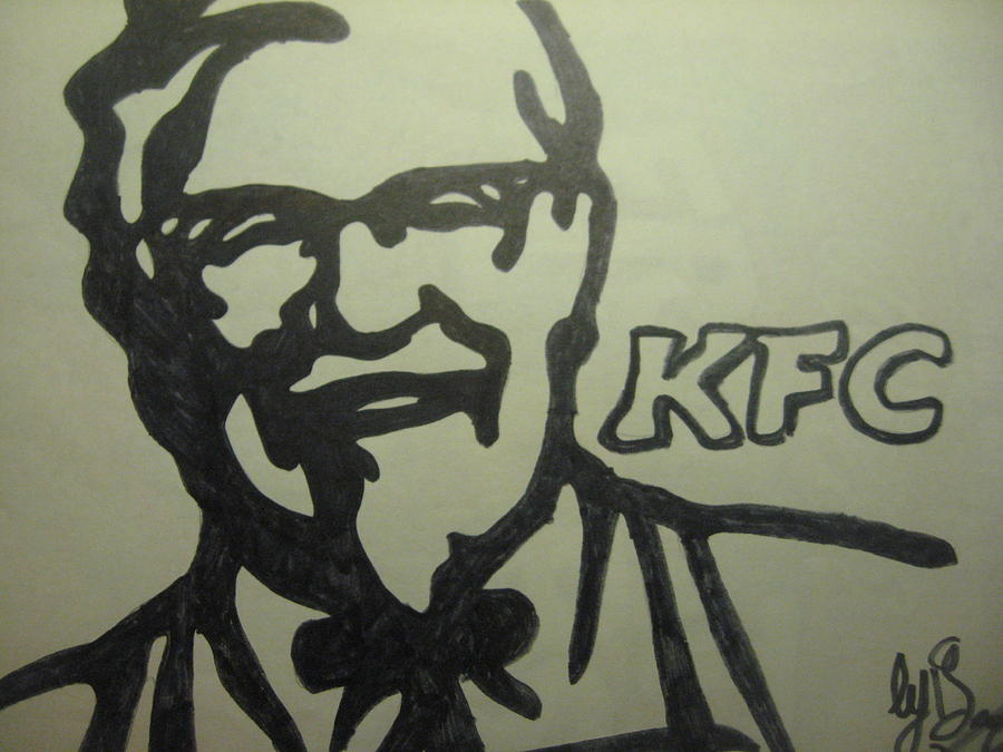 Kfc Drawing - The Colonel by Damian Howell