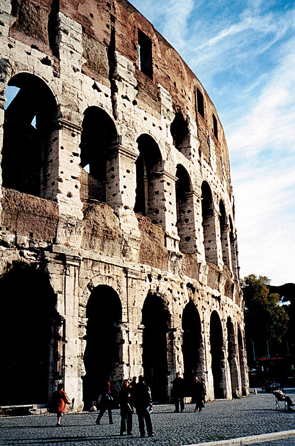 Colosseum Photograph - The Colosseum by Donna Proctor