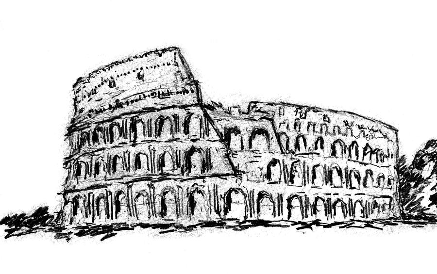 The Colosseum Drawing By Paul Piasecki