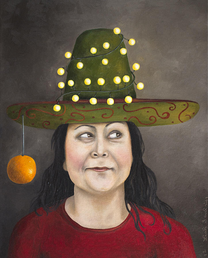Sombrero Painting - The Competitive Sombrero Couple 1 by Leah Saulnier The Painting Maniac