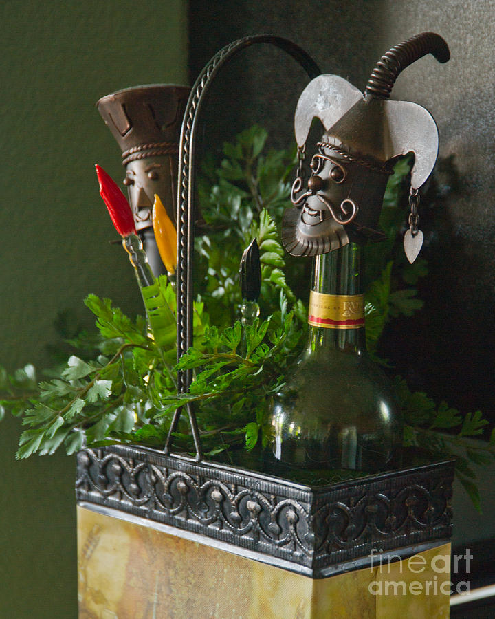 Bottle Photograph - The Cork Jester by Michael Flood