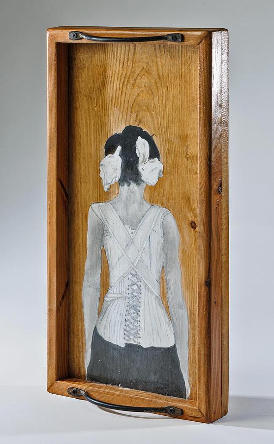 Susan Mccarrell Sculpture - The Corset by Susan McCarrell
