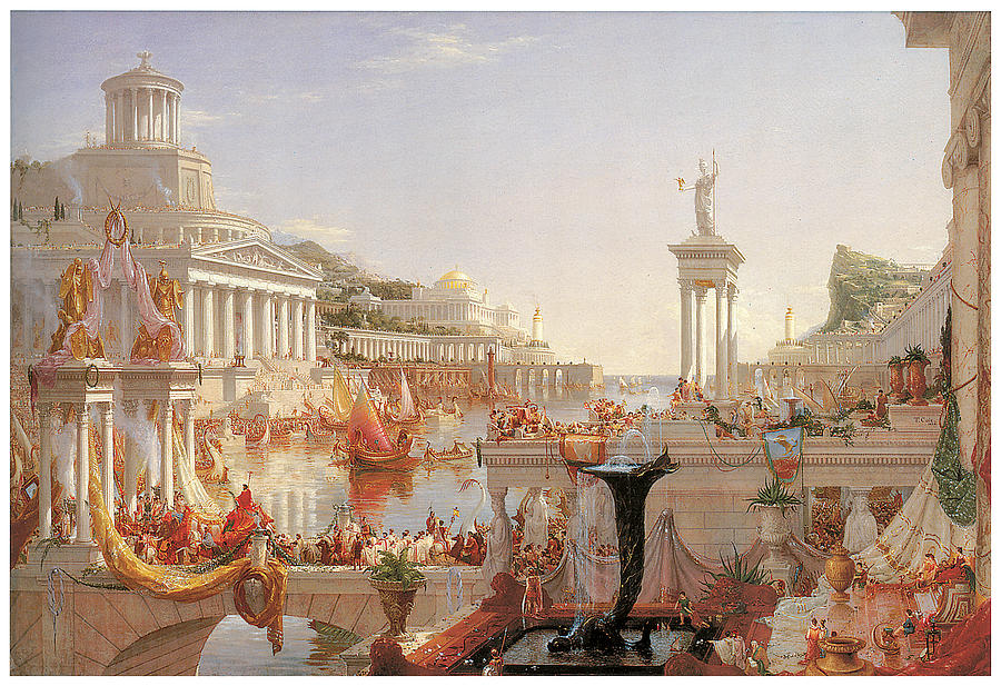 Thomas Cole Painting - The Course of Empire by Thomas Cole