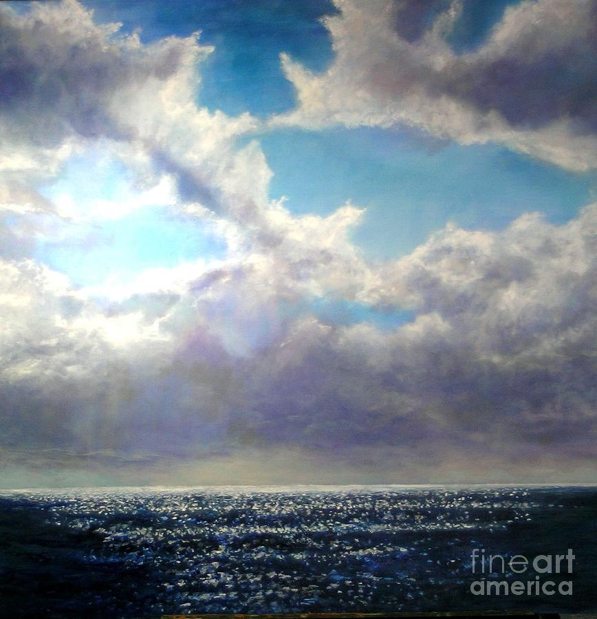 Clouds Painting - The Crack Of Dawn by Marie-Line Vasseur