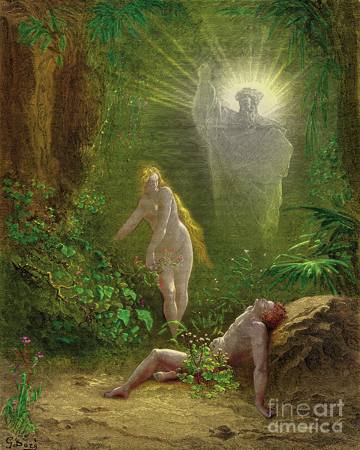 God Made Eve From Adam S Rib Quote: The Creation Of Eve Painting By Gustave Dore