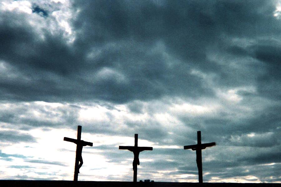 Faith Photograph - The Crosses At Groom by Ed Golden