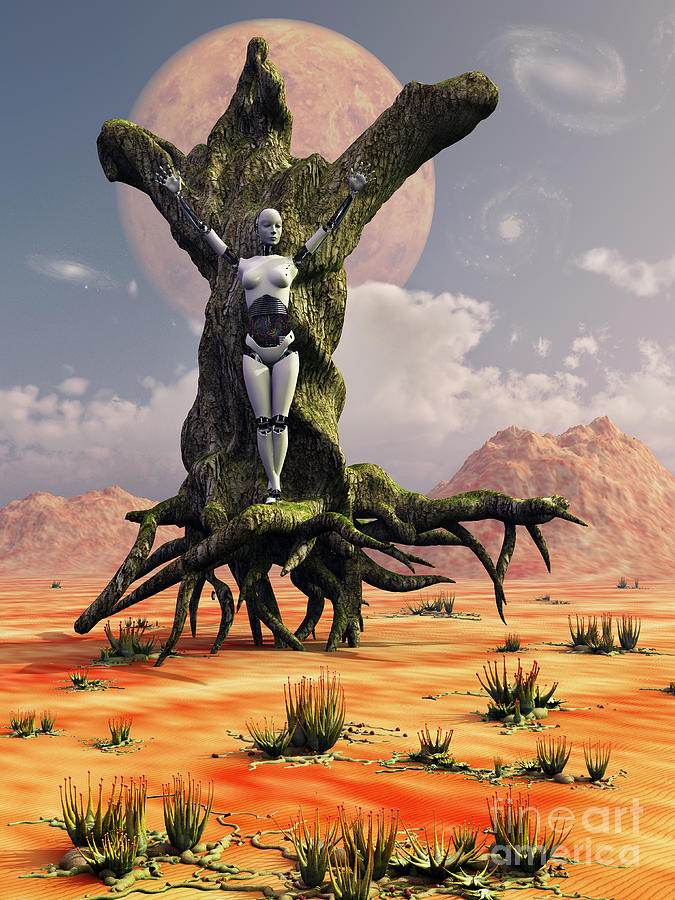 Nature Digital Art - The Crucifixion Of A Messianic Martyr by Mark Stevenson
