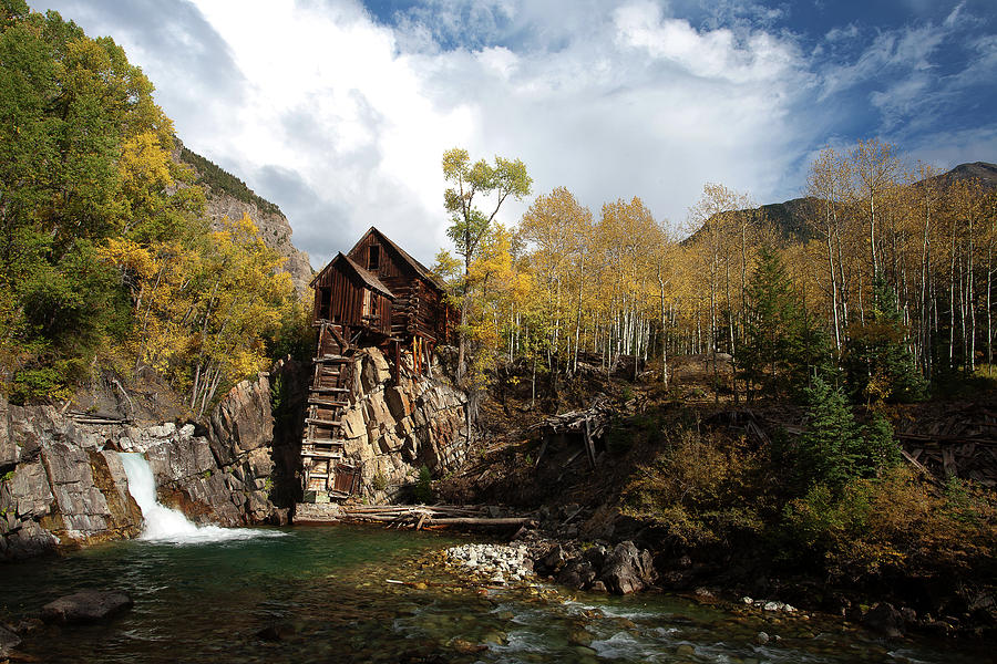 Colors Photograph - The Crystal Mill by Jim Garrison