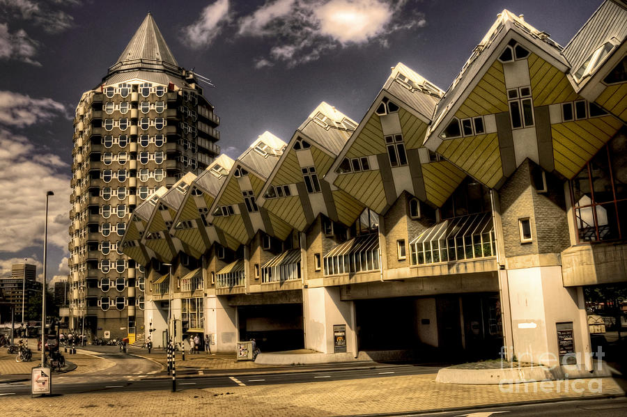Rotterdam Photograph - The Cube House  by Rob Hawkins
