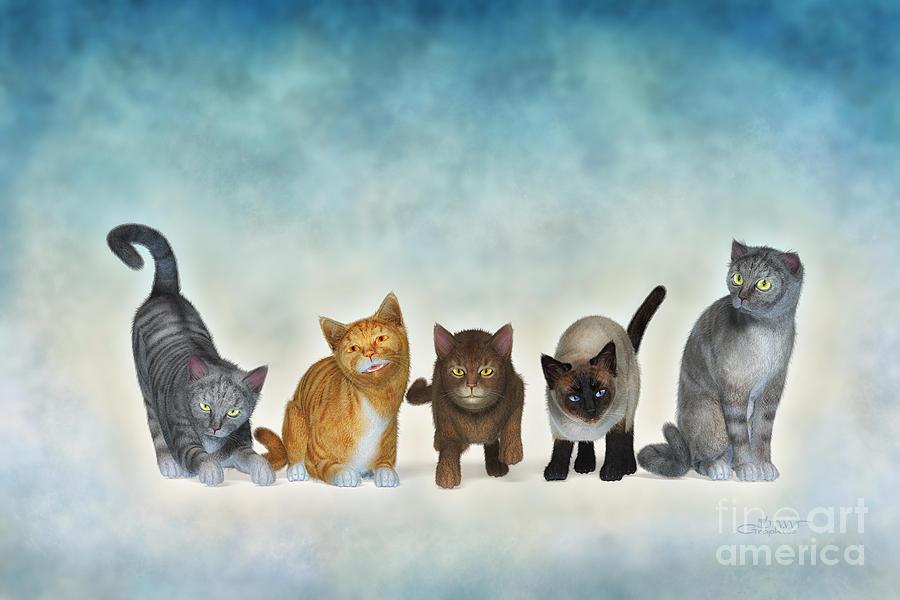 3d Digital Art - The Cute Ones by Jutta Maria Pusl
