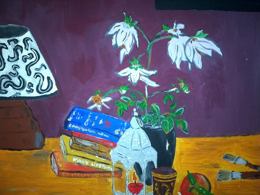 Books Painting - The Dahlia Tree by Julie Butterworth