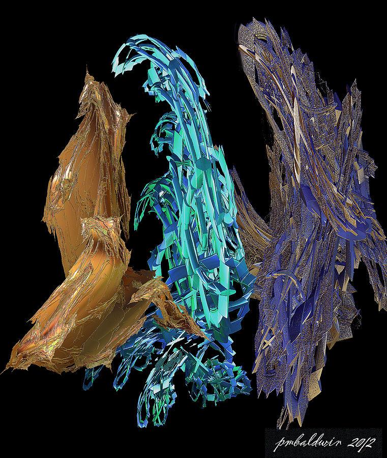 Fractal Digital Art - The Dancers by Patrice Baldwin