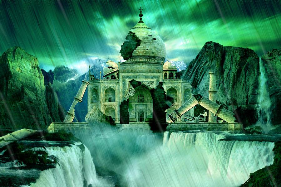 Taj Mahal Digital Art - The Day The Earth Moved by Julie L Hoddinott