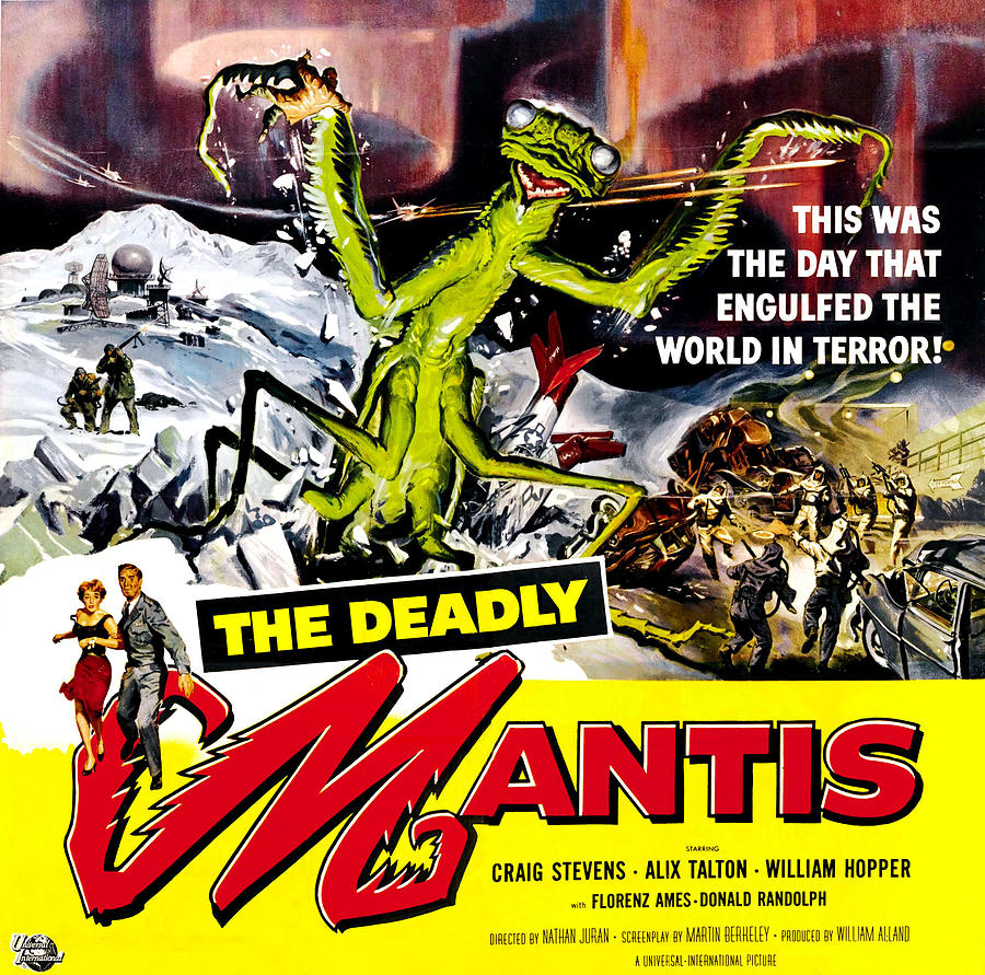 1957 Movies Photograph - The Deadly Mantis, 6-sheet Poster Art by Everett